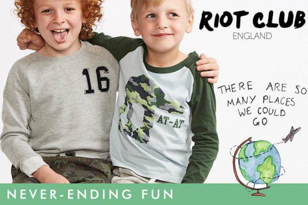 Мікс дитячого одягу Riot Club та Sugar Squad із Англії